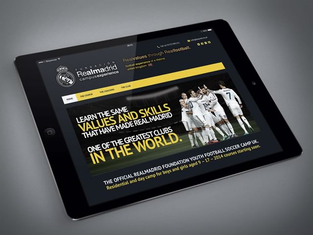 Realmadrid Foundation Camp Website